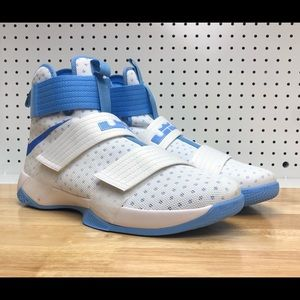 Nike Lebron Soldier 10 TB White Light Blue UNC